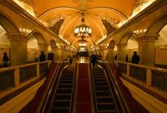 Москва подземное Стоковая Фотография