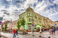 Москва, Российская Федерация - 27-ое августа 2017: Взгляд улицы от Стоковые Изображения RF