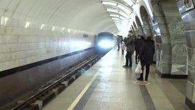 Москва, Российская Федерация - 7-ое марта: Поезд сток-видео