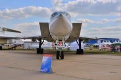 МОСКВА, РОССИЯ - АВГУСТ 2015: стратегический бомбардировщик Tu-22M Backfi забастовки Стоковое Изображение