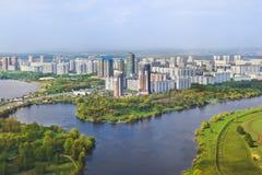 Москва, Россия - вид с воздуха Стоковая Фотография