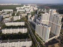 МОСКВА, РОССИЯ, воздушное фотографирование стоковое изображение rf