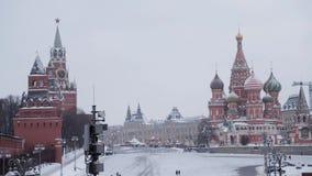 Москва, Россия - декабрь 2018: Замедленное движение красной площади укра видеоматериал