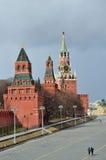 Москва, Россия, красная площадь, башни Кремля Стоковые Фото