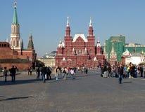 Москва, Россия - красная площадь: взгляд исторического музея Стоковое Изображение RF