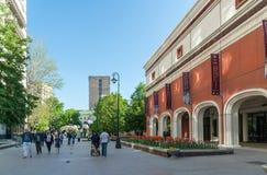Москва, Россия - могут 14 2016 Здание инженерства галереи Tretyakov в майне Lavrushinsky Стоковые Изображения RF