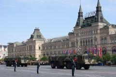 Москва, Россия - могут 09, 2008: торжество парада дня WWII победы на красной площади Торжественный проход воинского оборудования, Стоковое фото RF