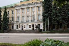Москва, Россия может 25, 2019, исторический памятник XVIII века здание военного отдела, бывший дворец стоковые фотографии rf