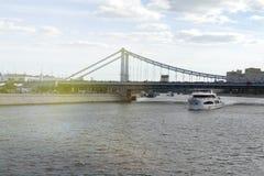 Москва, Россия - мост Bolshoy Moskvoretsky Стоковое фото RF