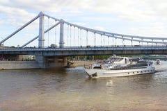 Москва, Россия - мост Bolshoy Moskvoretsky Стоковое Фото