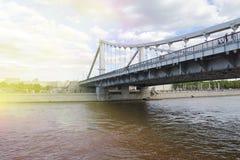 Москва, Россия - мост Bolshoy Moskvoretsky Стоковые Изображения RF