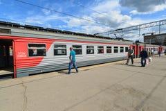 МОСКВА, РОССИЯ - 17 06 2015 Натренируйте большого русского Стоковое Изображение RF