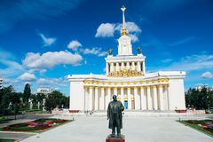 Москва, Россия - 13-ое августа 2018: Выставка достижений народного хозяйства VDNH в Москве стоковое фото