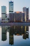 Москва, Россия - 9-ое апреля 2013 Деловый центр города Москвы на Стоковое Изображение RF