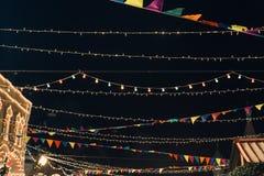 Москва, Россия - 1-ое декабря 2016: украшенный красной площадью Нового Года в Москве, КАМЕДЬ Стоковые Изображения RF