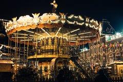 Москва, Россия - 1-ое декабря 2016: украшенный красной площадью Нового Года в Москве, КАМЕДЬ Стоковое Изображение