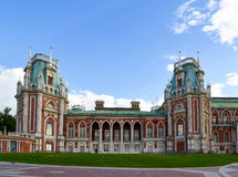 Москва, Россия - 8-ое июня 2016 Общий вид главного дома в имуществе музея Tsaritsyno Стоковая Фотография RF