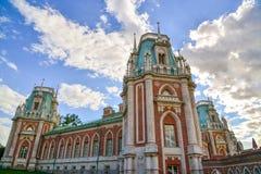 Москва, Россия - 8-ое июня 2016 Общий вид главного дома в имуществе музея Tsaritsyno Стоковое фото RF
