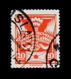 МОСКВА, РОССИЯ - 20-ОЕ ИЮНЯ 2017: Штемпель напечатанный в Czechoslovaki Стоковое Изображение