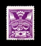 МОСКВА, РОССИЯ - 20-ОЕ ИЮНЯ 2017: Штемпель напечатанный в Czechoslovaki Стоковая Фотография