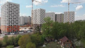 Москва, Россия - 7-ое мая 2019 Жилые дома построили PIK самые большие строительные фирмы в России акции видеоматериалы