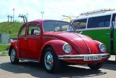 МОСКВА, РОССИЯ - 28-ОЕ МАЯ 2016: Классическое Volkswagen Beetle на фестивале автомобиля VW Стоковые Изображения