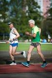 МОСКВА, РОССИЯ - 13-ОЕ МАЯ 2017: Русские athlets бегут на tou Стоковое фото RF