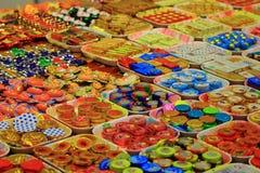 Москва, Россия - 14-ое сентября 2016 золотой шоколад в dif Стоковые Изображения RF