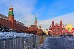 Москва, Россия - 14-ое февраля 2018: Здание Москвы Кремля против голубого неба зима moscow Стоковое фото RF