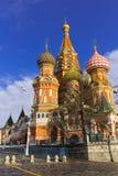 МОСКВА, РОССИЯ - 26-ОЕ ФЕВРАЛЯ 2016: Собор Vasily благословлять, известный как собор базилика Святого Стоковые Изображения RF