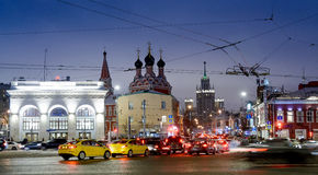 МОСКВА, РОССИЯ - 27-ое января 2017: Квадрат Taganskaya Стоковое фото RF