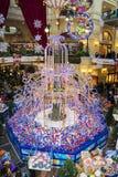 МОСКВА, РОССИЯ - 6-ОЕ ЯНВАРЯ: Рождество украшения рождества справедливое Стоковые Изображения