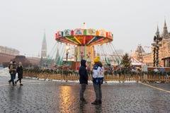 МОСКВА, РОССИЯ: Праздничное украшение в улицах города Стоковые Изображения RF