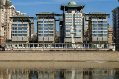 МОСКВА, РОССИЯ, современное здание посольства Англии Стоковое фото RF