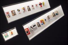 Москва, Россия, экспонаты выставки Kazimir Malevich Стоковая Фотография RF