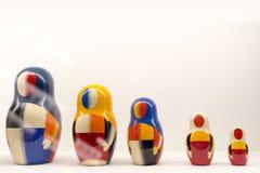 Москва, Россия, экспонаты выставки Kazimir Malevich Стоковые Изображения RF