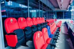 Москва, русское федерирование 27-ое января 2018: Зона для гостей, отклонение VIP вокруг стадиона CSKA стоковое фото