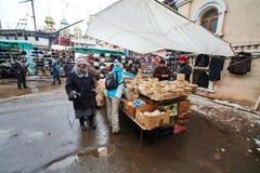 Москва - 22 04 2017: Рынок на Izmailovsky Кремле, Москве Стоковые Фото
