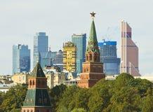 Москва старая и новая Стоковые Изображения