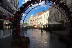 Москва: Улица Arbat Стоковое Фото