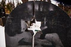 Москва - 3-ье февраля 2017: Звезда Давида на кладбище i Donskoy Стоковое Изображение RF