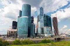 Москв-город (деловый центр) Москвы международный, Россия стоковые изображения rf