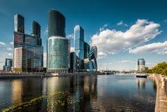 Москв-город (деловый центр Москвы международный) Стоковые Изображения