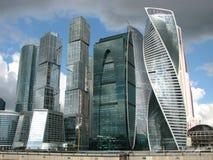 Москв-город, деловый центр, небоскребы стоковое изображение rf