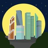 Москв-город на ноче Стоковые Изображения RF