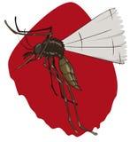Москит летания ища оно добыча, который нужно сдержать, Vector иллюстрация Стоковое фото RF
