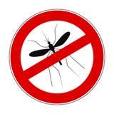 Москит запрета знака анти- - для запаса иллюстрация вектора