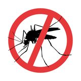 москит Предупредительный знак паразита символа иллюстрация штока