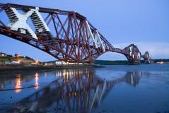 моста edinburgh railway вперед Стоковая Фотография