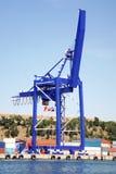 Мостовой кран контейнера Стоковое Изображение